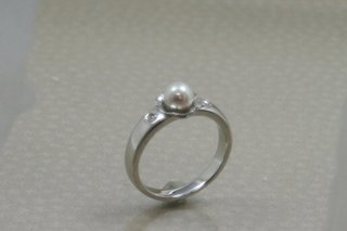 パールのタイタックから指輪へリフォーム04.JPG